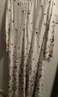 Jubahsouq white floral jubah