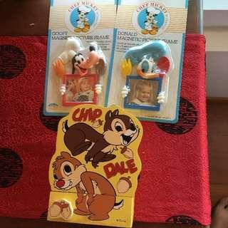 🚚 Disney Chip and Dale Key Press and Fridge Magnets