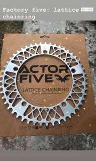 Factory five lattice chainring