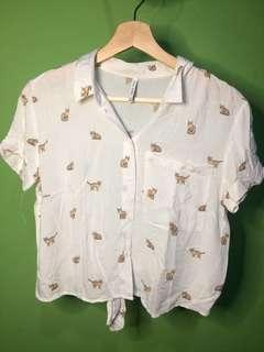 cat shirt bershka