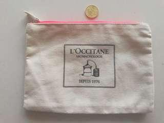 Loccitane flat pouch rm6 NEW with minor marker ink spot