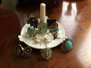 Costume Ring Jewelry (8 pieces)