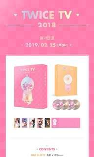 [UNSEALED] TWICE TV 2018 DVD ONLY / PHOTOCARD ONLY