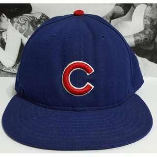 *二手 美國職棒大聯盟 MLB NEW ERA 芝加哥小熊隊 正式球員帽 棒球帽 寶藍色 休閒帽 鴨舌帽 Cubs