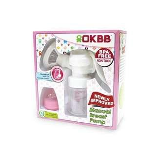 OKBB Manual Breast Pump with Wide Neck Bottle
