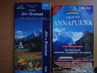 Nepal trekking map ($35/each)