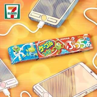 7-11 【#日本直送🎌】味覺糖🍬  每款味覺糖氣泡飲料軟糖都附送一款Pixar手機線公仔。  多莉 閃電王麥坤 ~ 交換三眼仔