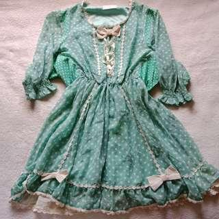 Vintage Laced Lolita Victorian Cosplay Dress