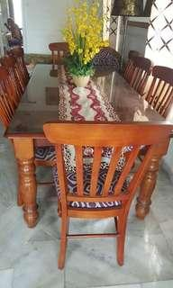 Dining Table + 8 Chairs / Set Meja Makan 8 kerusi