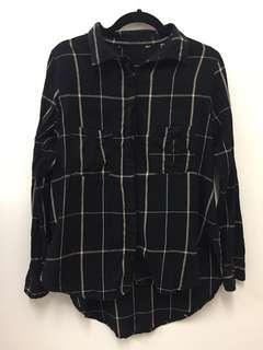 Cotton On grid boyfriend shirt