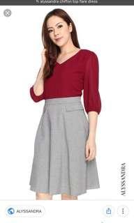 🚚 Alyssandra chiffon top flare dress
