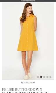 Love and bravery Marigold dress
