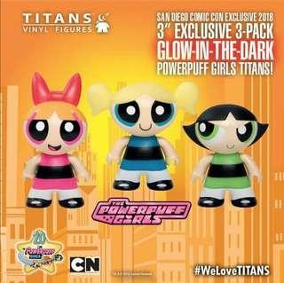 The Powerpuff Girls Glow-In-The-Dark 3 Inch Titans Vinyl Figure SDCC