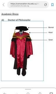 🚚 NTU graduation gown for PhD