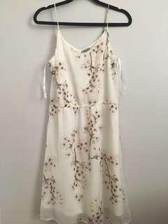 Vero Moda White Floral slip dress