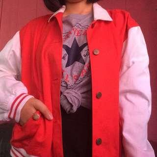 First Issue Red Varsity Jacket