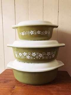 2 SOLD, 1 AVAIL— Spring Blossom Oval Pyrex Casserole