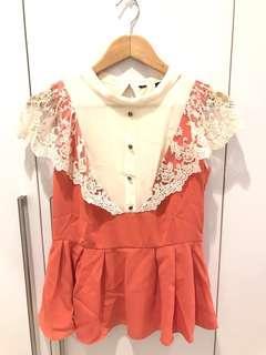 NEW! Orange Lace Shirt