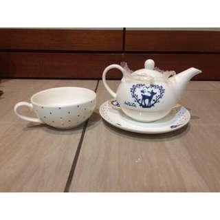 🚚 Ninita 經典午茶組/下午茶/陶瓷壺/陶瓷杯/陶瓷碟