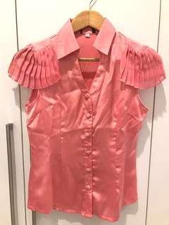 NEW! Satin Pink Shirt