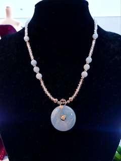 Genuine Aquamarine & Topaz Necklace