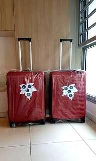 24 inch Pierre Cardin luggage suitcase Delsey Rimowa Samsonite Red Lojel American Tourister BRIC Crossing Antler