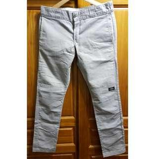 *二手 美版 Dickies 811 WP811 Skinny Straight 窄版 灰色 直筒褲 工作褲 32腰