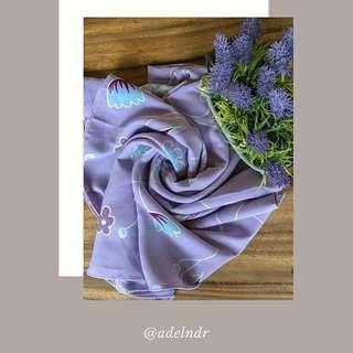 Lavender Square Scarf