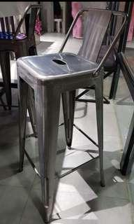 Metal Bar Chair with Backrest