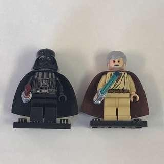 Lego Darth Vader and Obiwan kenobi