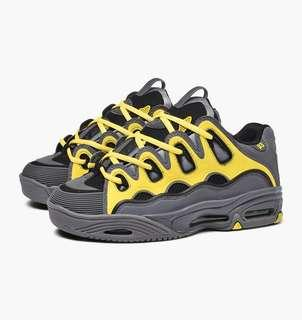 OSIRIS D3 2001 CHARCOAL / YELLOW