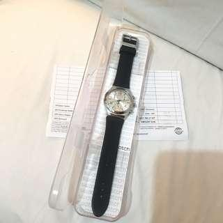 Swatch Stainless Steel Rubber Strap Watch