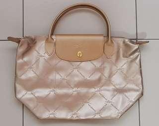 0fdf426ad920 Longchamp Le Pliage Platinum Small Short Handle Tote (Limited Edition)!