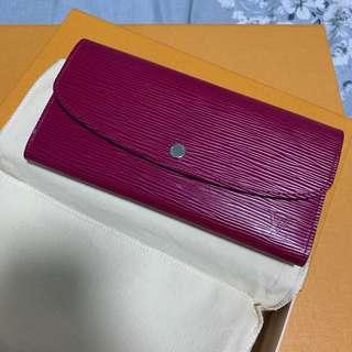 LV Louis Vuitton Emilie Epi Leather Wallet