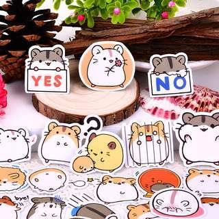 [Premium] Hamster Friends Scrapbook / Planner Stickers #336