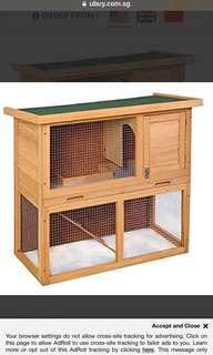 🚚 Wooden Outdoor Hutch for small animals
