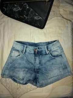 bluewash hotpants