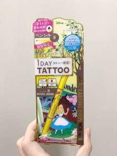 1Day tattoo x disney alice eye liner 啡色眼線筆