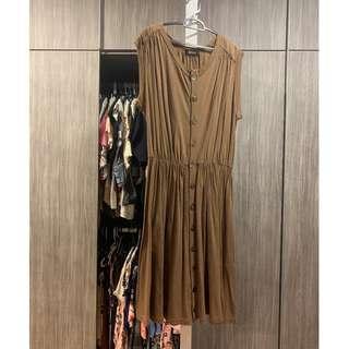Zucca Dress Brown (Excellent Condition)