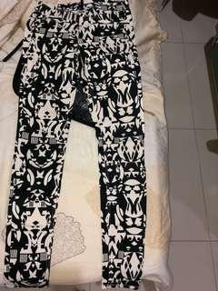tribal pants b&w