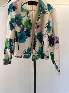 Zara Floral Jacket Size Small