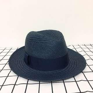 🚚 GAP 藍色編織草帽