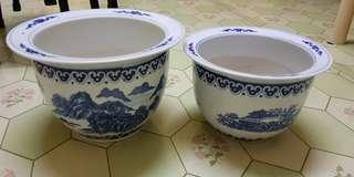 Beautiful porcelain flower pots from China