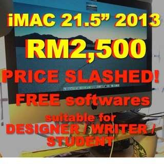 21.5 inch iMac price slashed RM2,500 COD only