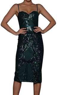 Elle Zeitoune Jones Dress Emerald Green