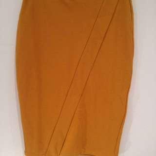 Brand New Zara Mustard Yellow Skirt