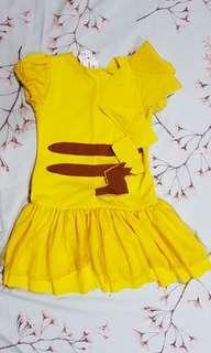 Dress Anak Pokemon Pikachu size 6