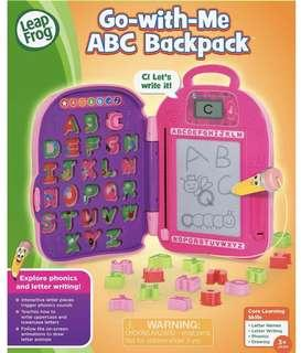 🚚 LeapFrog Go-with-Me ABC Backpack, Pink