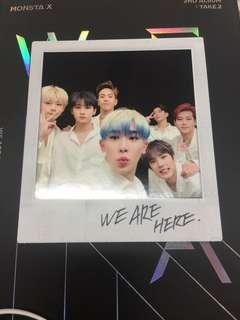 Monsta X VLive special card $20..Code NOT used