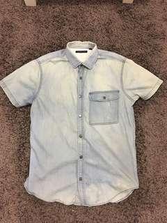 Theory men's shirt sleeve shirt size s